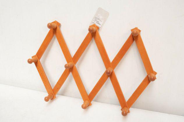 Appendiabiti a pantografo 10 posti in legno ciliegio masidef
