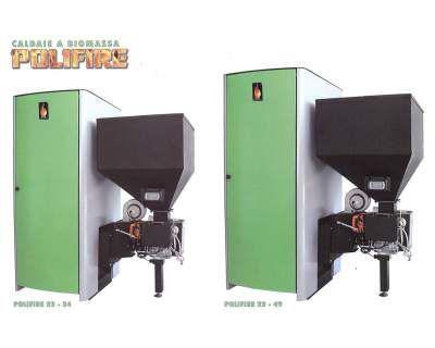 Caldaia ctm a biomassa polifire 22-34 + kit