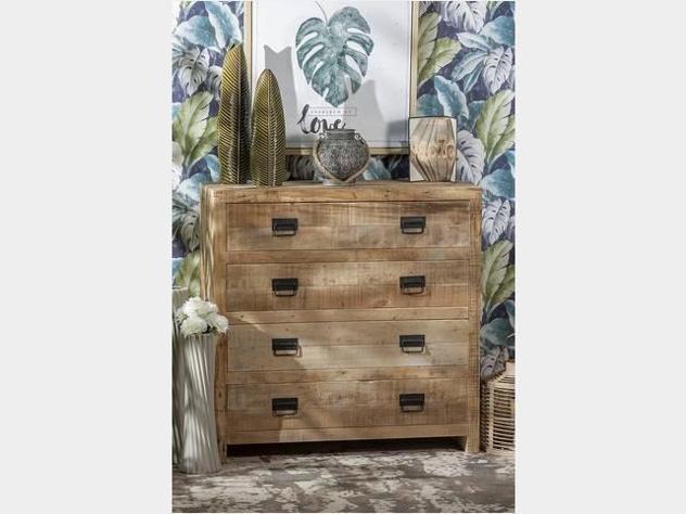Cassettiera in legno grezzo nuova art.53241