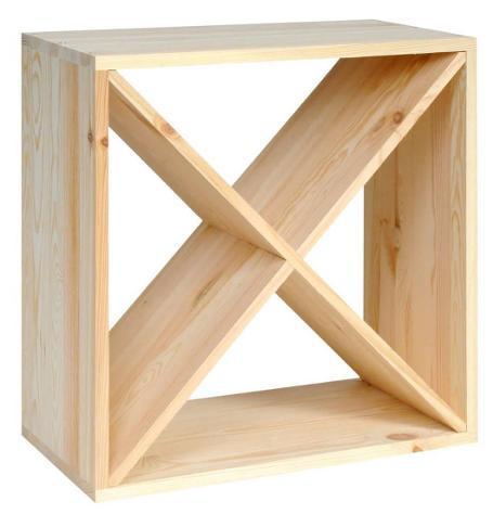 Cantinetta portabottiglie in legno abete 48x23x48 cm 24