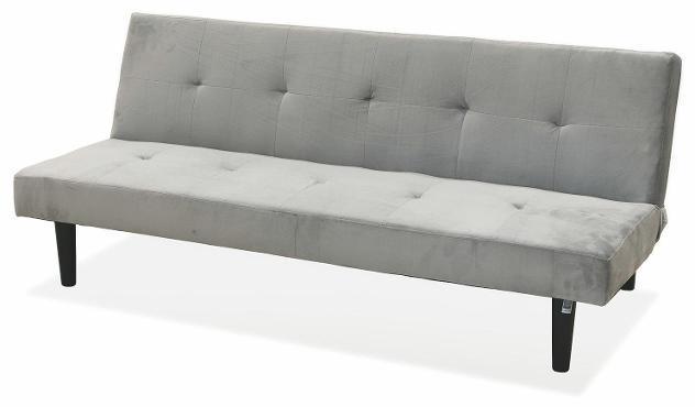 Divano letto 2 posti 166x77x65,5 cm in velluto soriani