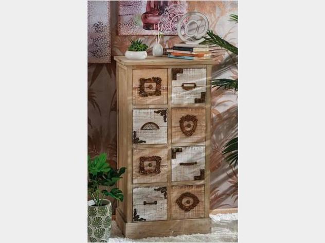 Mobile in legno cassettiera country nuova