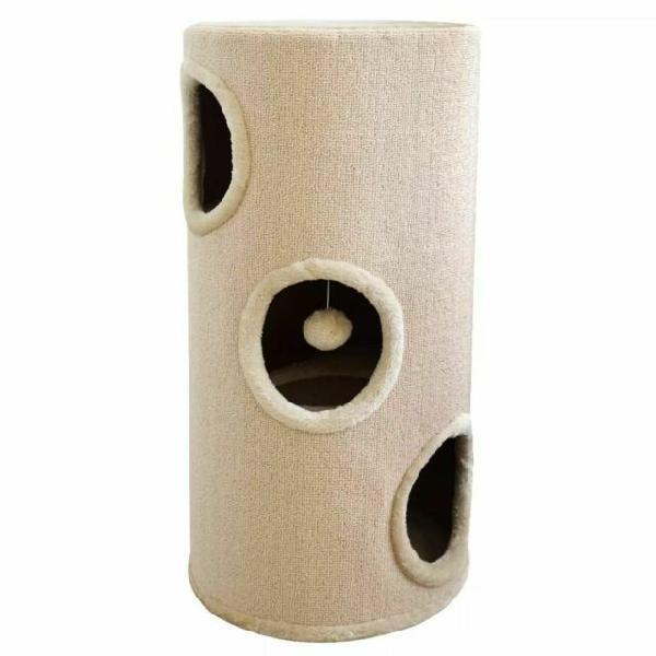 Tiragraffi a casetta per gatti 70 cm beige