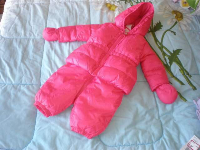 Tuta neve due pezzi rosa 9-12 mesi