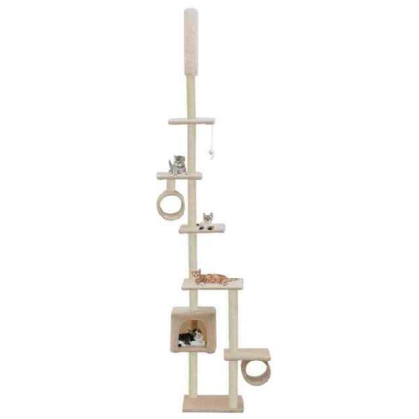 Vidaxl albero per gatti con tiragraffi in sisal 260 cm beige