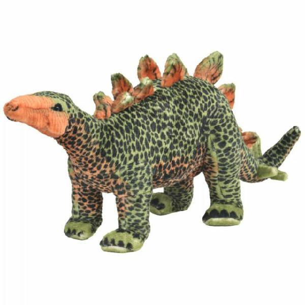 Vidaxl dinosauro stegosauro di peluche giocattolo verde