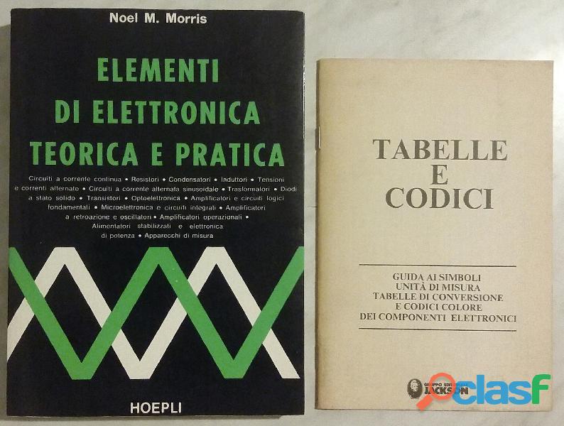 Elementi di elettronica teorica e pratica di Morris Noel Ed.Hoepli 1981 come nuovo