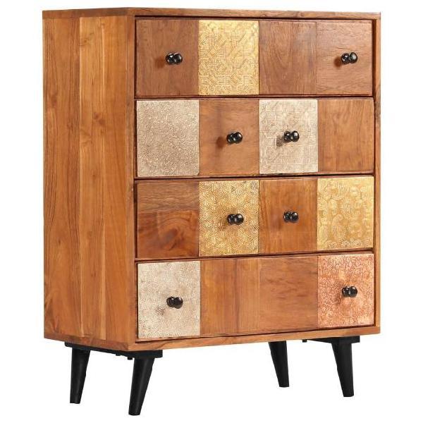 benzoni Com/ò 6 Cassetti in Legno Stile Vintage 120x39,5x71 cm Natural Wood