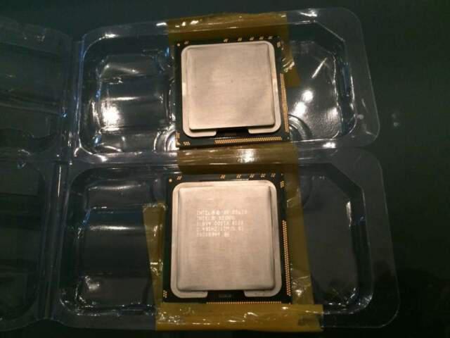 Coppia cpu intel xeon e5620 2.40 ghz quad core