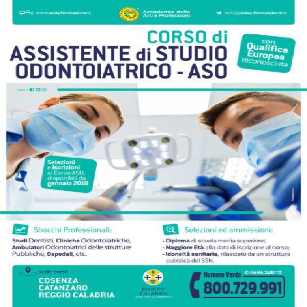 Corso di assistente di studio odontoiatrico – aso