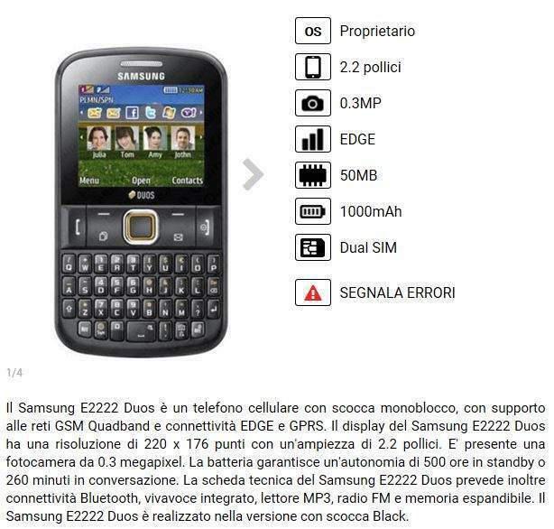 Samsung ch@t222 duos nero