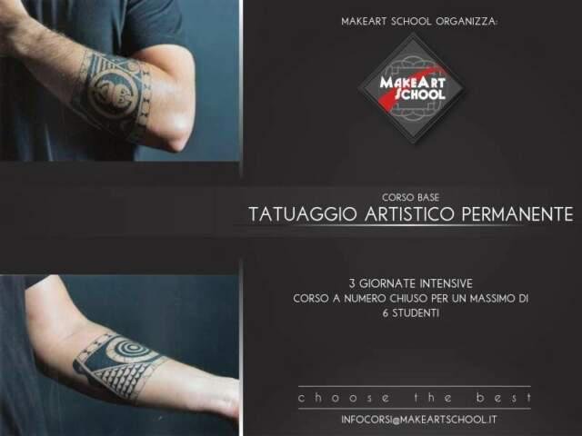 Tatuaggio artistico permanente formazione base