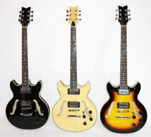 Chitarra semiacustica stile 335 jazz blues 3 colorazioni
