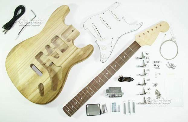 Kit fai da te chitarra elettrica stile fender stratocaster