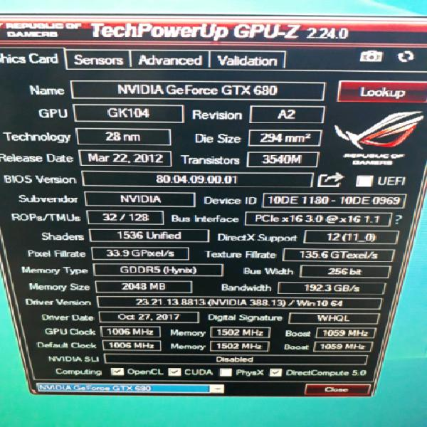 Scheda video nvidia asus gtx 680 2 giga