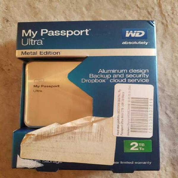 Wd my passport ultra metal edition oro/gold limited edition