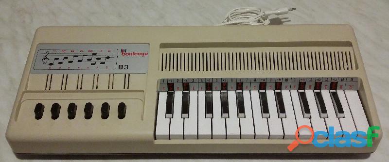 Organ B3 Bontempi pianola tastiera 25 tasti elettronica vintage Made in Italy come nuovo