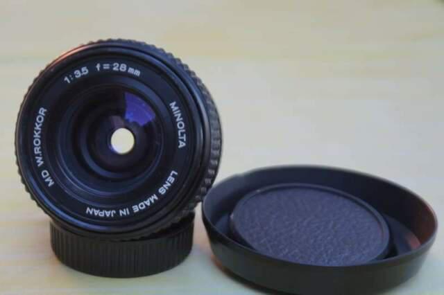 Grandangolo minolta rokkor md 28 mm/3.5