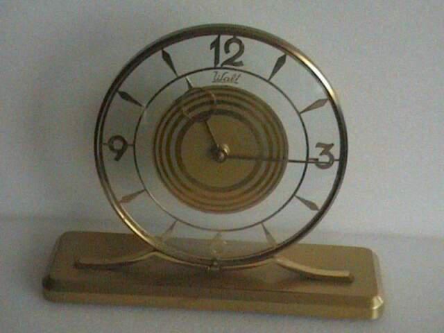 In cristallo orologio da tavolo mm. 190 carica 8 giorni