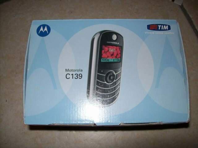Motorola c139 telefono cellulare in confezione