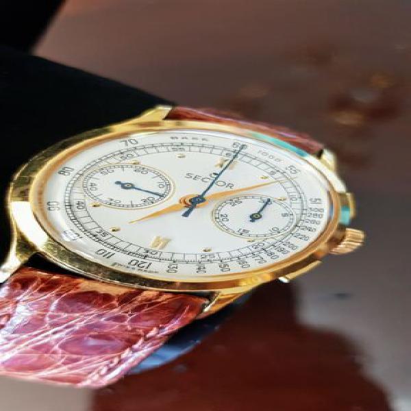 Orologio crono anni '80 meccanico in oro pieno 18ct