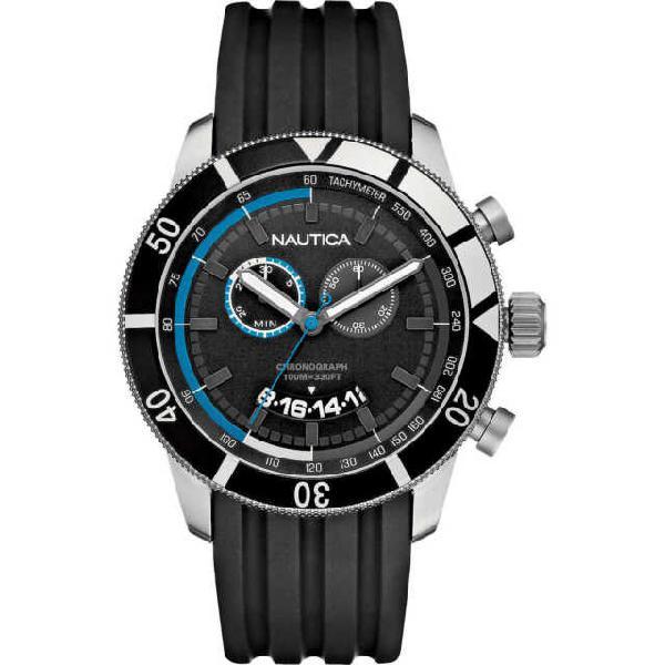 Orologio nautica uomo cronografo acciao nero