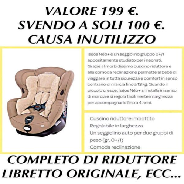 Seggiolino auto bebe' comfort bambini neonati