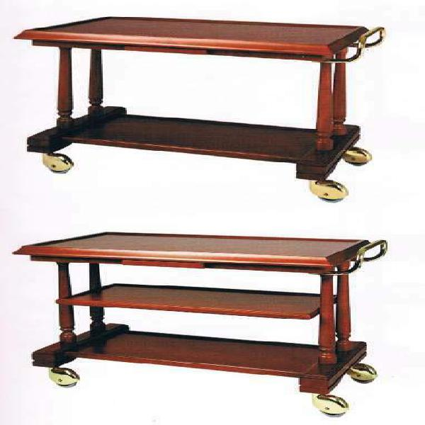 Carrello in legno servizio sala cm 113