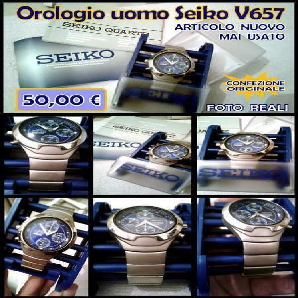 Orologio uomo seiko v657-6210