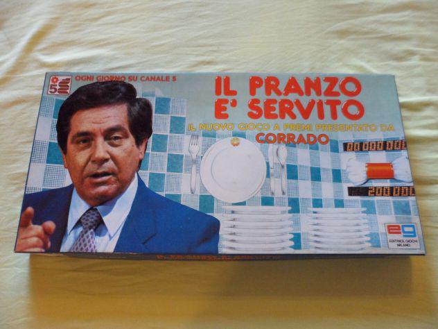 Il pranzo e' servito, gioco in scatola vintage anni 80