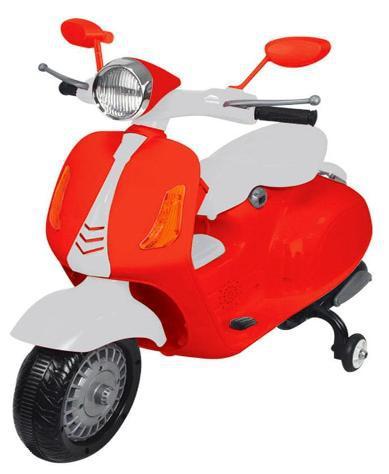 Scooter elettrico per bambini 6v kidfun classic rosso/bianco