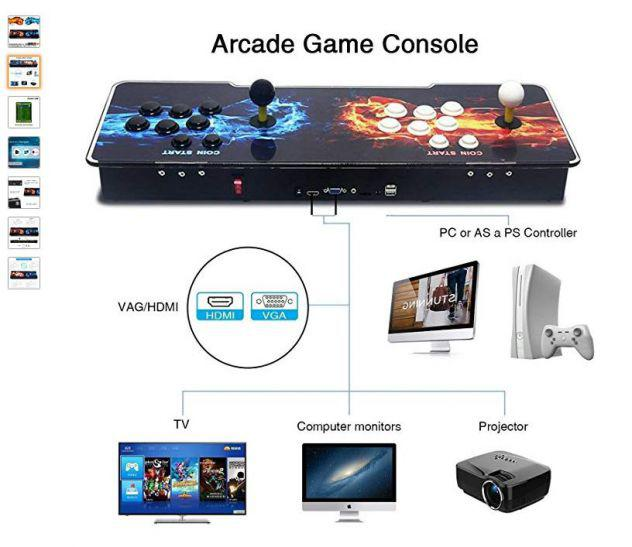 3d pandora box plus 2400 in one video game console