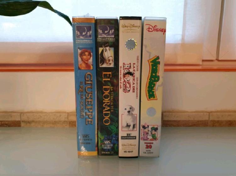 4 videocassette vhs disney