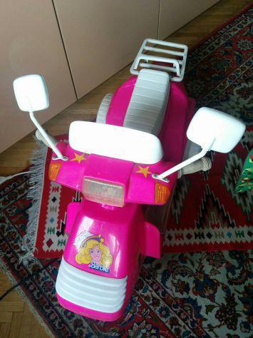 Barbie vintage anni 80 peg perego moto elettrica - 6 v con