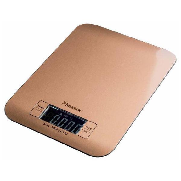 Bestron bilancia da cucina elettronica aks700co 5 kg rame