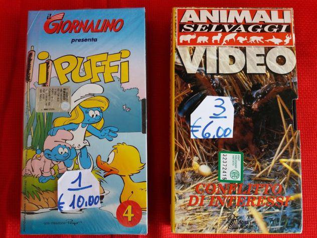 Cassette vhs (puffi 4 + animali)