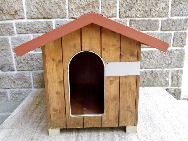 Cuccia casetta rialzata tutta legno x cani media taglia o