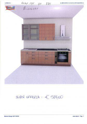 Cucina componibile da stock di 2° scelta, comp. 191 da 285