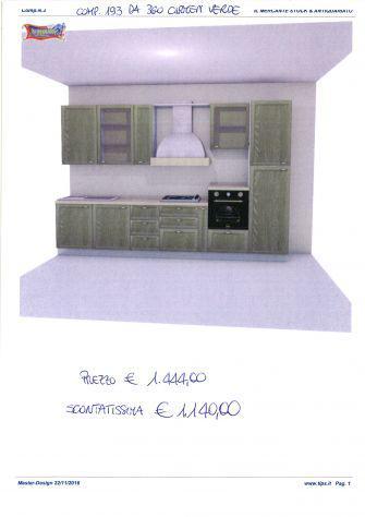 Cucina componibile da stock di 2° scelta, comp. 193 da 360
