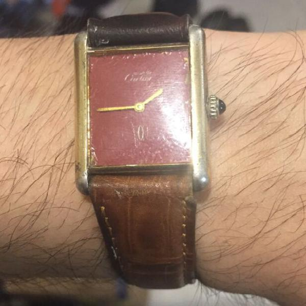 Cartier vintage a carica manuale in argento
