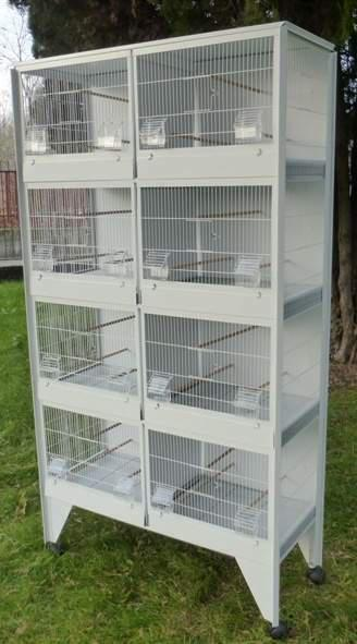 Gabbie per allevamento uccelli