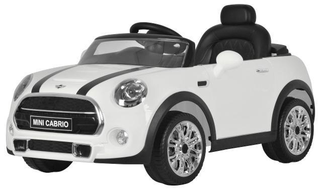 Macchina elettrica per bambini 12v mini cooper cabrio bianco
