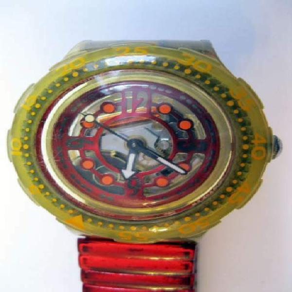 Swatch scuba sub rosso anni 80