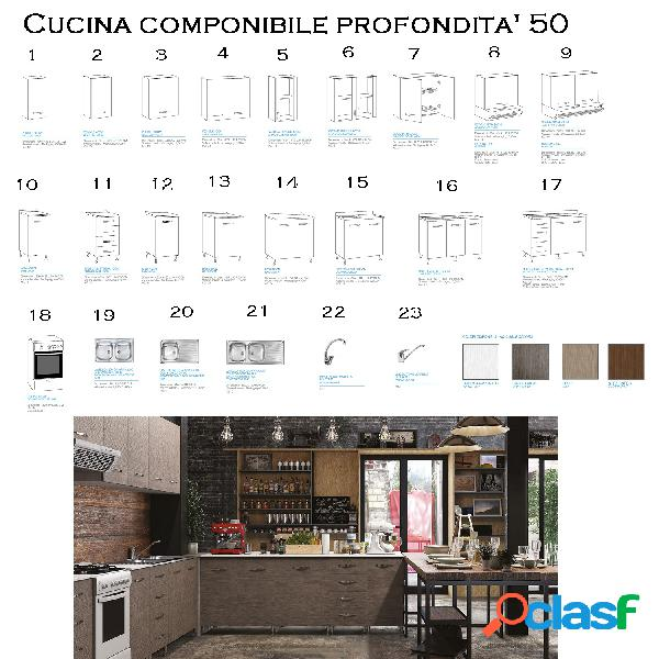 Cucina componibile country