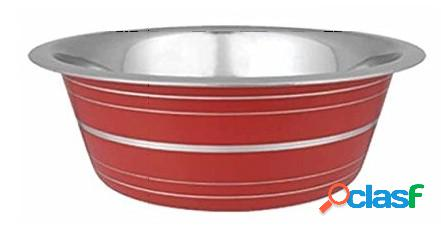 Pet ciotola acciaio line rosso cm 21