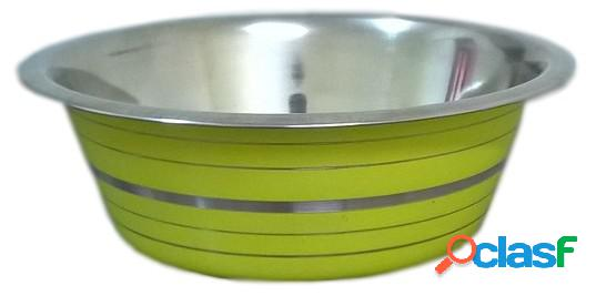 Pet ciotola acciaio line verde limone cm 25