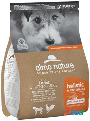Almo nature cane holistic eco xs-s small kg 2 agnello pollo e riso