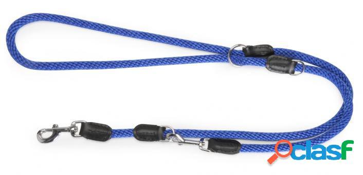 Camon guinzaglio da addestramento in corda e pelle blu 19x2000 mm