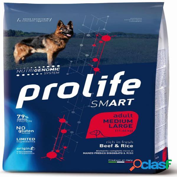 Prolife cane smart adulto medium large manzo kg 12 - smart adult...