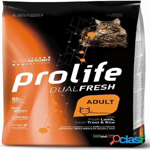 Prolife gatto dual fresh adult gr 400 agnello trota - dual fresh...